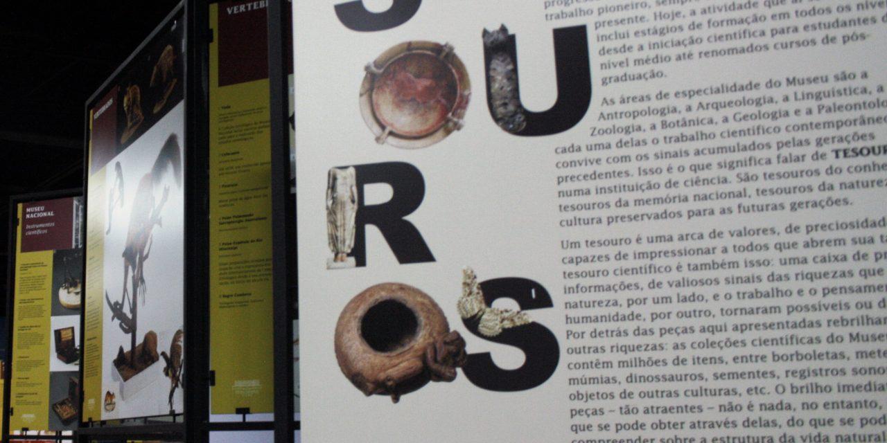 Exposição reúne os tesouros do Museu Nacional