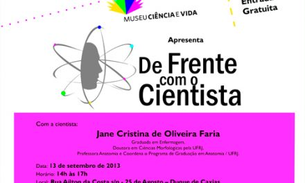 DE FRENTE COM O CIENTISTA