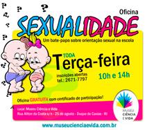 Oficina SEXUALIDADE – TODA TERÇA-FEIRA