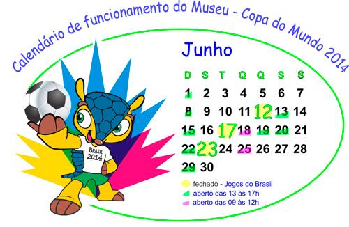 Horário do Museu na Copa