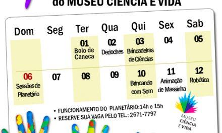 Oficinas animam as férias no Museu Ciência e Vida