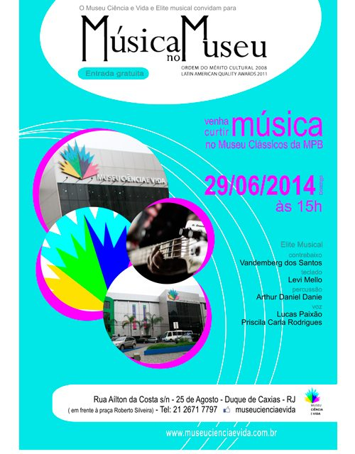 Música no Museu estreia com MPB na Baixada Fluminense