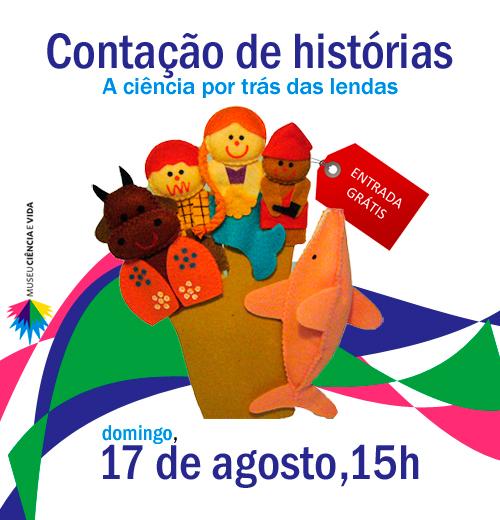 Contação de histórias no Museu