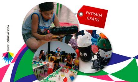 Oficina de brinquedos com material reciclável