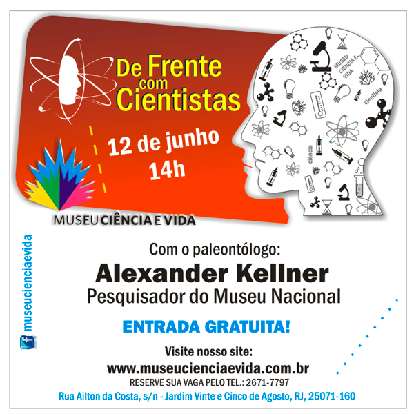 Paleontólogo Alexander Kellner, do Museu Nacional, participa do De Frente com Cientistas