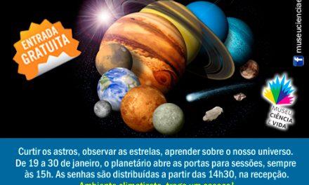 Planetário todos os dias!