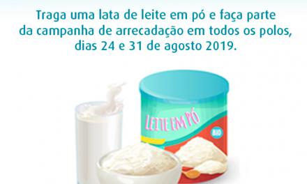 Cederj: Visita Docente receberá doação de leite