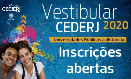 Abertas inscrições para o Vestibular Cederj 2020.1