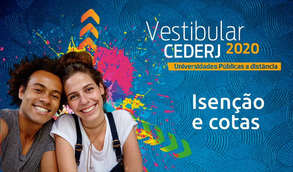 Vestibular Cederj 2020.1: Aberto pedido de isenção e cota