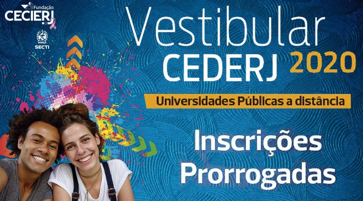 Fundação Cecierj prorroga as inscrições pro Vestibular Cederj 2020.1