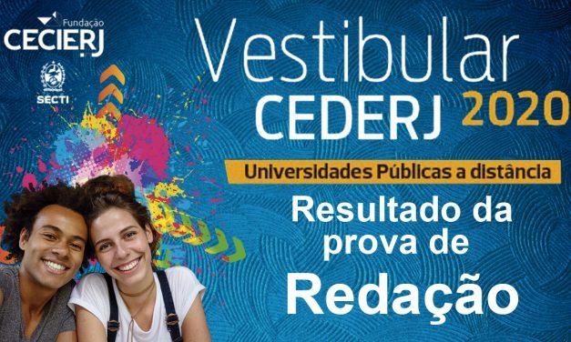 Fundação Cecierj divulga a nota de redação do Vestibular Cederj 2020.1