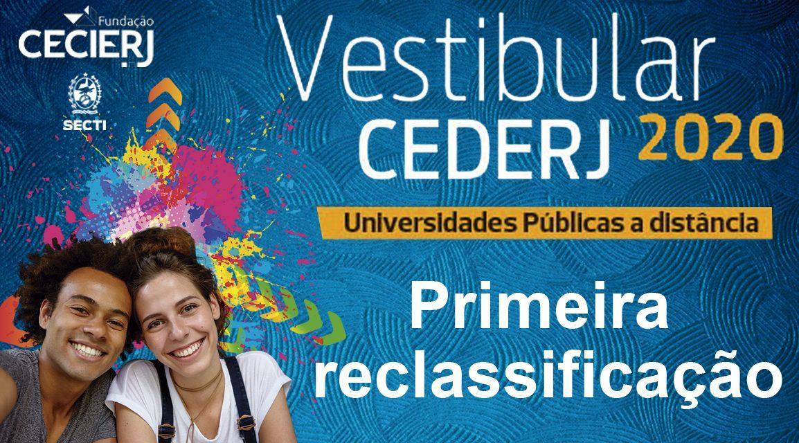 Veja lista da primeira reclassificação do Vestibular Cederj