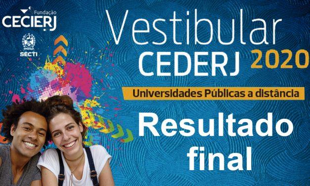 Veja o Resultado Final do Vestibular Cederj 2020.1