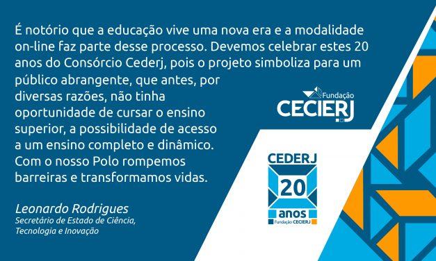 Secretário Leonardo Rodrigues fala sobre os 20 anos do Cederj