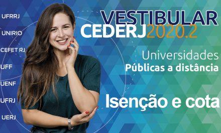 Último dia de inscrições do período de isenção e cotas para o Vestibular 2020.2