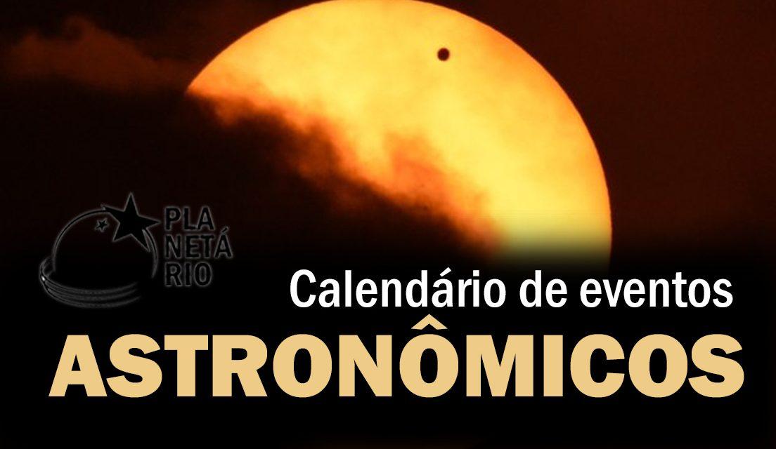 Efemérides astronômicas de junho