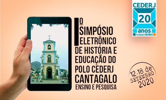 Cederj Cantagalo realiza 1º Simpósio eletrônico de História e Educação