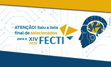 Confira a lista final de selecionados para a XIV FECTI