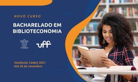 Vestibular Cederj 2021.1 oferece curso inédito de Biblioteconomia. Inscrições estão abertas!