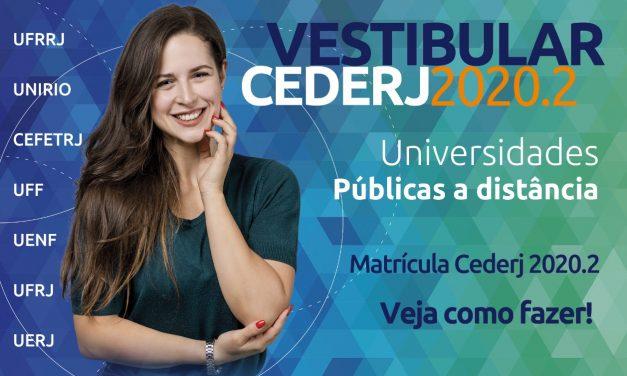 Matrícula dos aprovados no Cederj será em duas etapas