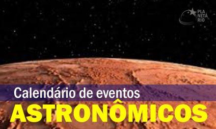 Calendário Astronômico de fevereiro de 2021