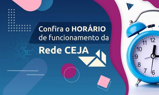 Rede Ceja divulga horário de funcionamento das suas unidades