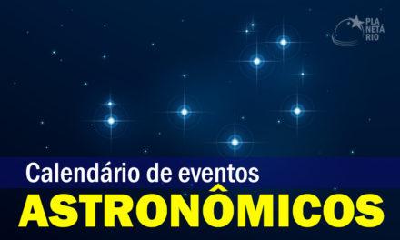Calendário de eventos astronômicos de março