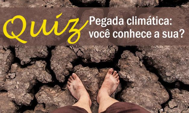 Pegada climática: jogue este quiz e descubra a sua