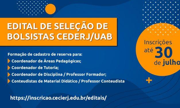 Fundação Cecierj lança edital para seleção de bolsistas