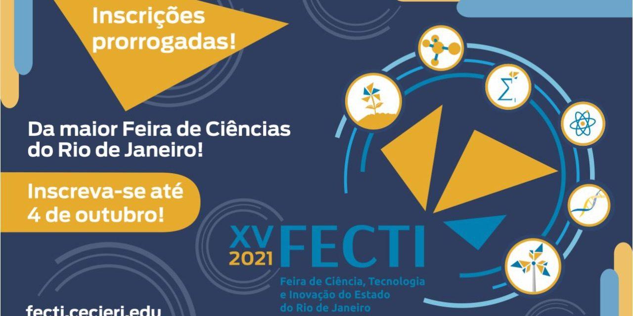 Inscrições para a XV FECTI foram prorrogadas até 04 de outubro
