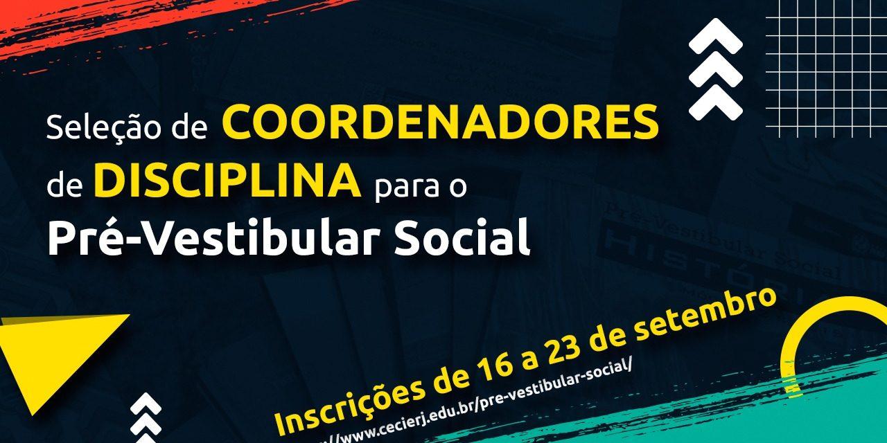 Aberta seleção de bolsistas para o Pré-Vestibular Social da Fundação Cecierj
