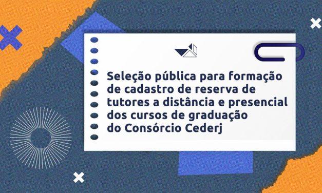 Fundação Cecierj seleciona tutores a distância e presencial para os cursos do Cederj